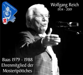 Die Mostertpöttches trauern um Wolfgang Reich